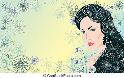 piękna kobieta, tło