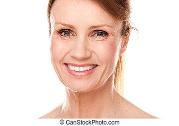 piękna kobieta, wiek średni