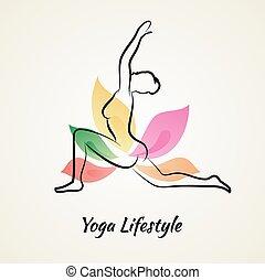 piękna kobieta, yoga