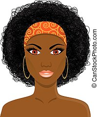 piękna twarz, kobieta, afrykanin