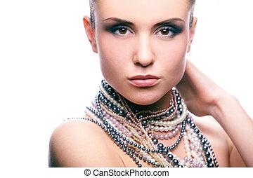 piękno, i, perły