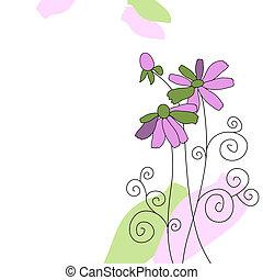 piękny, święto, kwiaty, karta