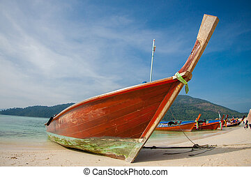 piękny, antena, plaża, prospekt