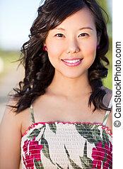 piękny, asian kobieta