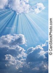 piękny, błękitne niebo