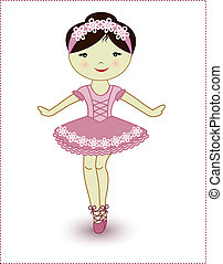 piękny, balerina, dziewczyna, śliczny