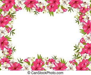 piękny, bukiet, lilia, chorągiew