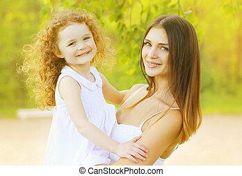 piękny, córka, macierz