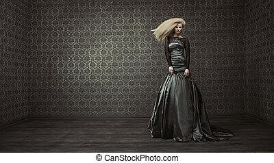 piękny, dama, sztuka, delikatny, fotografia