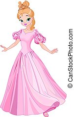 piękny, fairytale, księżna