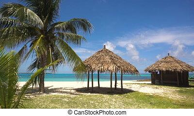 piękny, filipiny, island., wyspa, daco, tropikalna plaża, ...