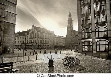 piękny, fotografia, miasto
