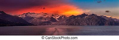 piękny, góra, amerykanka, prospekt, panoramiczny, krajobraz