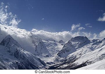 piękny, góry