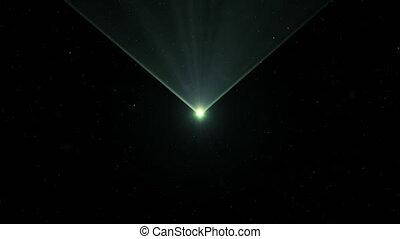 piękny, jasny, zielony, laser, abstrakcyjny, lustrzany, dust., 4k, color., belka, ultra, ożywienie, przez, hd, 3840x2160, ruchomy, błyszczący, promień, poziomy, czerwony, 3d
