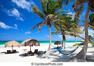 piękny, karaibska plaża