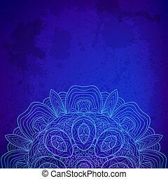 piękny, koronka, abstrakcyjny, tło., wektor, arabeska