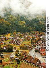 piękny, kraj, japonia