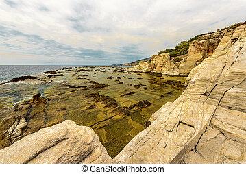 piękny, krajobraz, morze, grecja