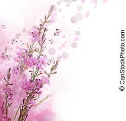 piękny, kwiatowy brzeg