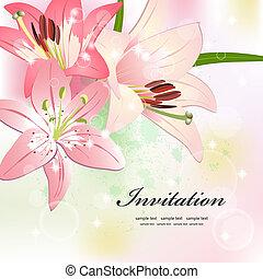 piękny, kwiaty, dla, twój, projektować
