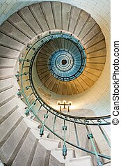 piękny, latarnia morska, schody