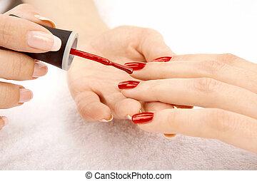 piękny, manicure