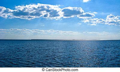 piękny, marynarka, krajobraz