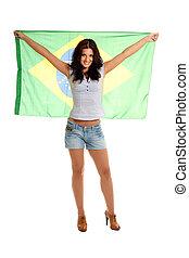 piękny, miłośnik, brazylijczyk