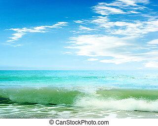 piękny, motyw morski
