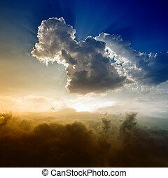 piękny, niebo