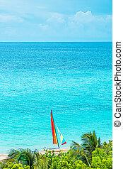 piękny, ocean, dzień słoneczność