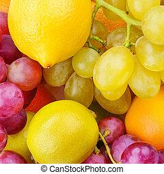 piękny, organiczny, dojrzały, zdrowy, jadło., tło, fruits.
