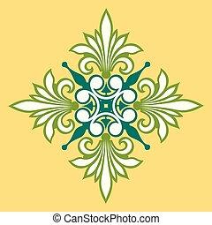 piękny, ozdoba, projektować, rośliny, liście