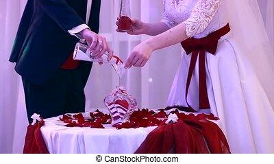 piękny, piasek, ceremonia, na, przedimek określony przed rzeczownikami, ślub