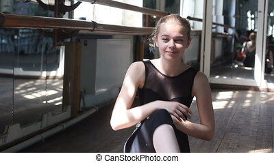 piękny, portret, baletnica