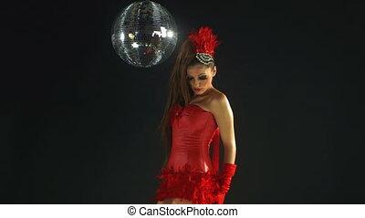 piękny, profesjonalny, gogo, tancerz