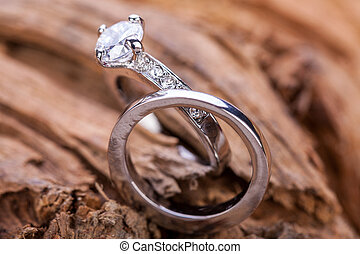 piękny, ring, biżuteria, accessoiry, obietnica