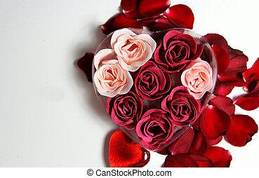 piękny, skład, valentine