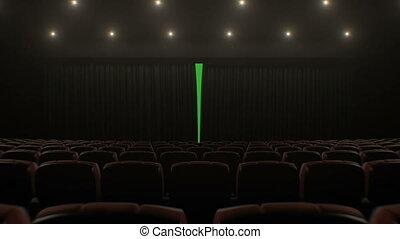 piękny, sztuka, kino, na, przez, siedzenia, technologia, ...