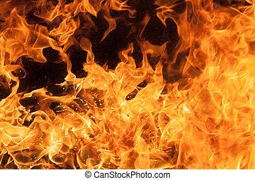 piękny, szykowny, ogień, płomienie
