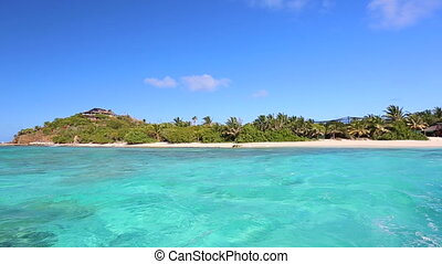 piękny, tropikalny, karaibskie morze