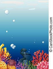 piękny, underwater patrzą
