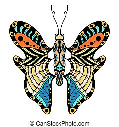 piękny, wektor, butterfly.