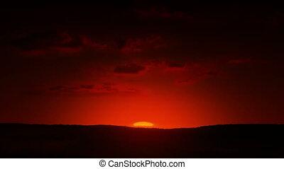piękny, wschód słońca