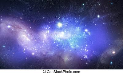 piękny, wszechświat, tło