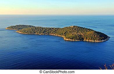 piękny, wyspa, morze śródziemne
