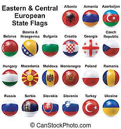piłka, bandery