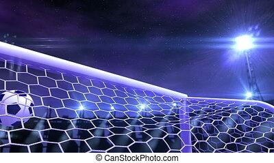 piłka do gry w nogę, gol, fluing