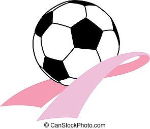 piłka do gry w nogę, wstążka, świadomość, rak
